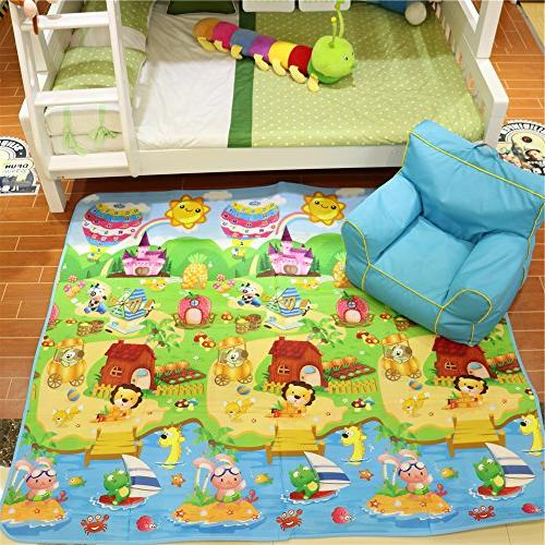 Fani Play Mat Double Sides Non-Toxic Reversible Use Outdoor/Picnic/Beach/Travel