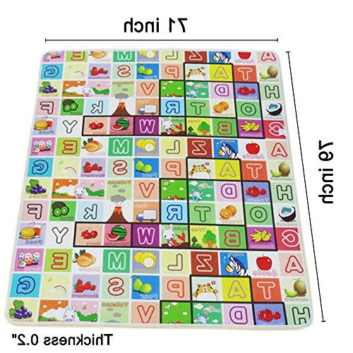 Fani Play Mat Baby Double Sides Reversible Waterproof Use for