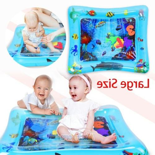 tummy time baby water mat infant slapped