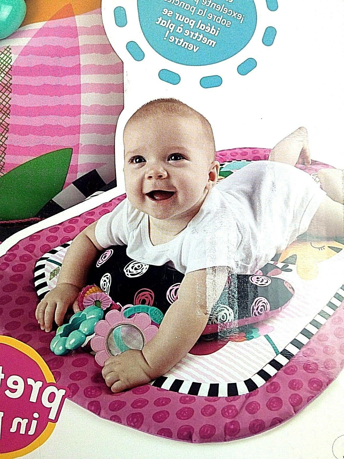 Two ways to Play Baby Pink Padded Prop Mat & 2 Toys for Age