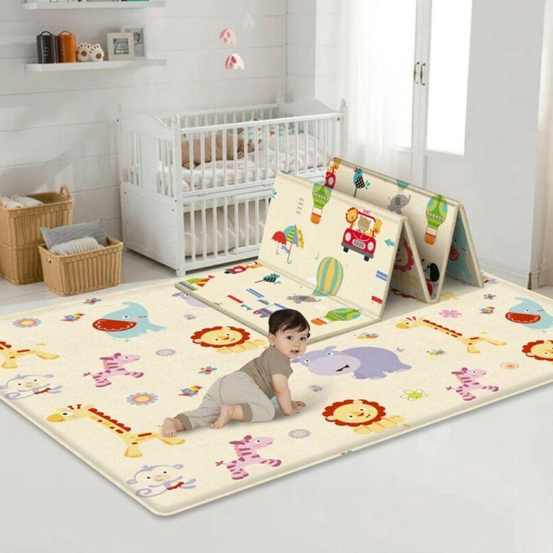 large foldable double sided child crawling mat