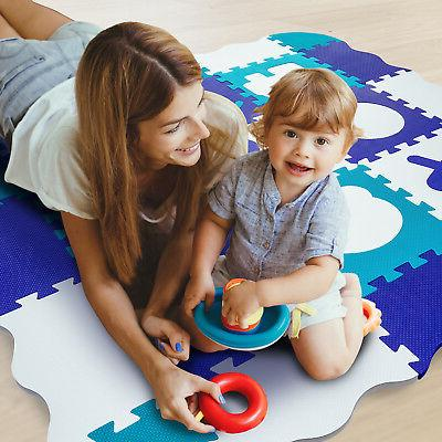 wee giggles non toxic extra thick foam play mat tummy time c