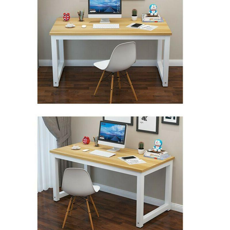 Wood Computer Laptop Table Study Workstation Home Office Furniture