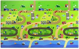 BABY CARE Large Baby Play Mat in Happy Village-New