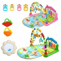 Large Baby Play Mat Kids Gym Playmat 4 in 1 Fitness Music Fu