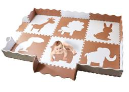 Wee Giggles Large Baby Play Mat with Fence | Non Toxic Crawl