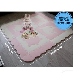 Lil' Sea Creatures Foam Baby Play Mat With Fence