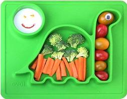 "Silicone Placemat - Toddler Plates"" The Happy Good Dino PAD"""