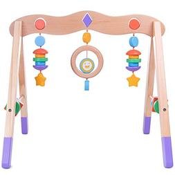 Imagination Generation Little Olympians Wooden Baby Play Gym