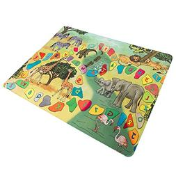 Baby Play Mat for Kids, Microfiber Flannel Fleece & Foam Mat