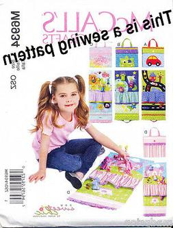 MCCALL'S SEWING PATTERN 6934 CHILD'S TRAVEL PLAY MATS - PRIN