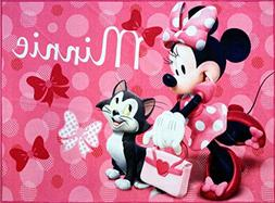 Disney Minnie Mouse Multicolor Polyester Kids Rug by Gertmen