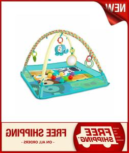 """Bright Starts More-in-One Ball Pit Fun 30"""" Play Mat Cozy Sur"""