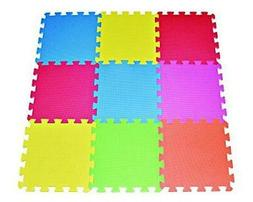 Multi Color Tiles Interlocking Play Puzzle Floor Mat Foam Ki