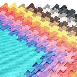 We Sell Mats Multi Color 80 Sq Ft  Foam Interlocking Anti-Fa