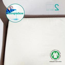 Pack N Play Mattress Sheets 100% Organic Cotton, 2 Pack Port