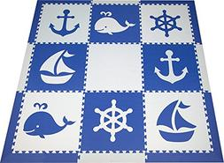 SoftTiles Interlocking Foam Playmats- Nautical Ocean Theme f