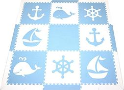 SoftTiles Foam Children's Playmat- Nautical Ocean Theme- Int