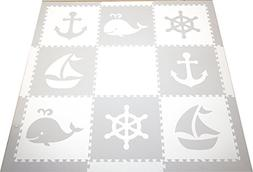 SoftTiles Kids Play Mats-Nautical Ocean Theme-Premium Thick
