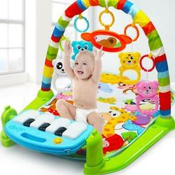 New Infant Baby Pedal Piano Play Music Mat Activity Gym Blan