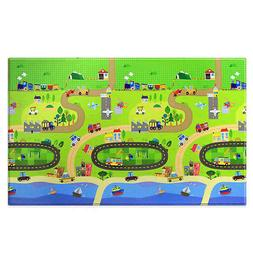 NEW BABY CARE Large Baby Play Mat In Happy Village