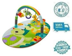 New Rainbow Turtle Arch Activity Gym Baby Playmat Infant Gir