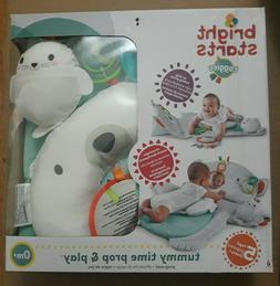 New Bright Starts Taggies Tummy Time Prop & Play Prop Mat