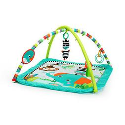 New Bright Starts Zig Zag Safari Activity Gym and Play Mat w