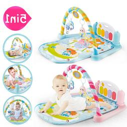 Newborn Musical Play Soft Piano Gym Mat Activity Play Gym Ba