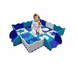 Wee Giggles Non-Toxic Extra Thick Foam Play Mat for Tummy Ti