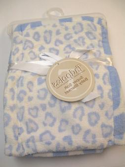 NWT Tadpoles Blue and White Baby Boy Animal Print Blanket Re