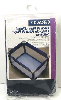 Graco Pack 'N Play Fitted Sheet Navy Fits 27 in x 39 in