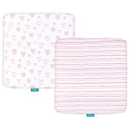 Pack N Play Mattress Sheets for Square Playard 100% Cotton 3