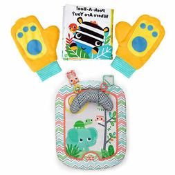 Bright Starts Peek-A-Zoo Prop & Play Together Book and Play