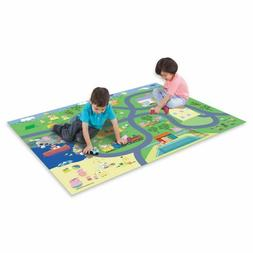 Peppa Pig Mega Mat Play Rug & 2 Toy Vehicles Plastic Car 5ft