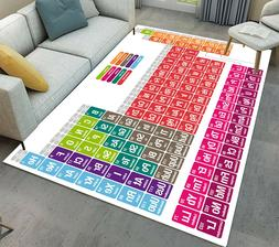 Periodic Table Of Elements Area Rug Living Room Large Floor