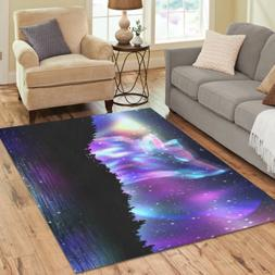 personalized play mat custom howling wolf galaxy