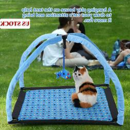 Pet Cat Play Bed Activity Tent W/Fish Playing Toy Exercise K