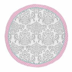 Sweet Jojo Designs Pink, Turquoise and Gray Damask and Polka