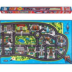 Play Mat for Kids. A Large, Road and Car Rug with map of New