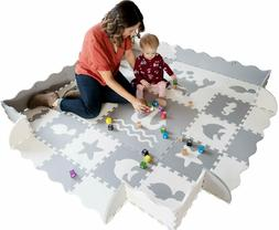 Baby Play Mat with Edges - Extra Large  Extra Thick  Interlo