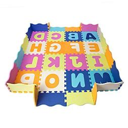 Baby Play Mat with Fence, Foam Letters, and Tiles. Playmat f