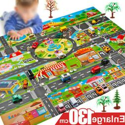 Play Mat City Road Buildings Parking Map Game Scene Toy Car