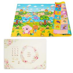 Baby Care Play Mat Foam Floor Gym & Milestone Mat Blessings