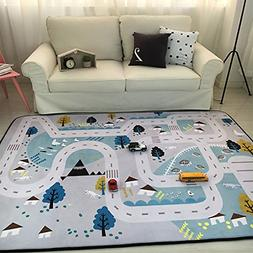 Play Mat for Baby Grey Area Rug Foam Play Mat Living Room Fl