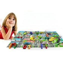 Play Mat for Kids Large Protective Floor Mat Car Track Road