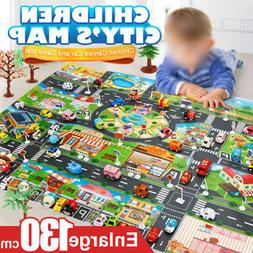 Play Mat Game Scene Car Map City Buildings  Parking Map Colo