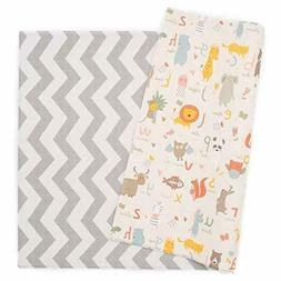 Baby Care Play Mat, Haute Collection Large, Zig Zag, Grey
