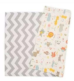 Baby Care Play Mat, Haute Collection Large, Zig Zag, Grey/Wh