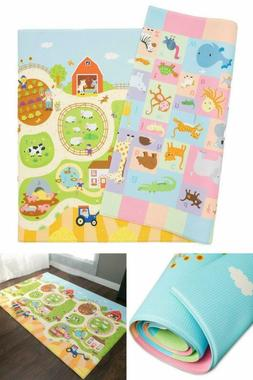 Baby Care Play Mat  WATERPROOF & REVERSIBLE - easy to clean